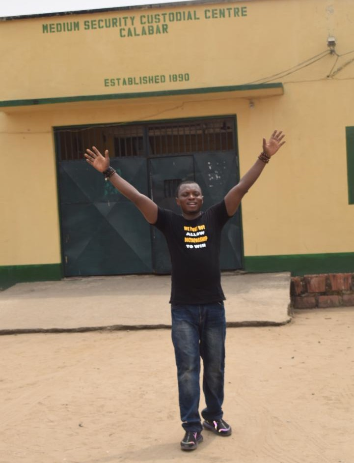 AGBA JALINGO, REGAINS FREEDOM, 179 DAYS AFTER HIS INCASERATION.