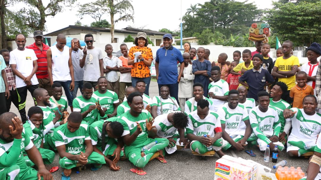 NIGERIA DIAMOND INDEPENDENCE: INYANG ASIBONG CELEBRATES PARA-SOCCER TEAM ALONG WITH SPORTS COMMISSIONER IN CALABAR.
