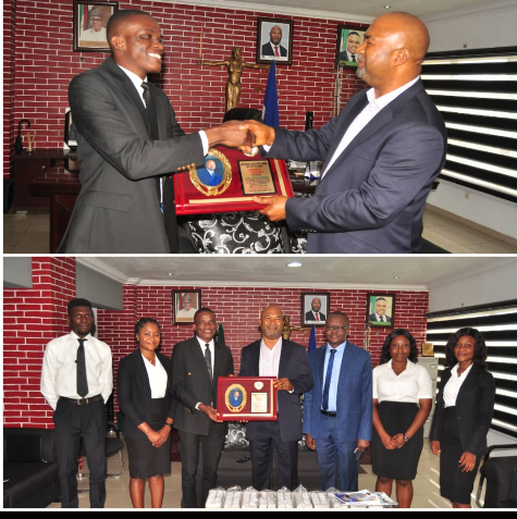 CROSS RIVER ATTORNEY GENERAL AND COMMISSIONER FOR JUSTICE BAGS AWARD.