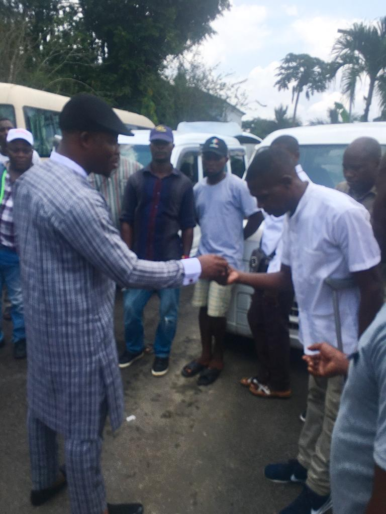 EMPOWERMENT: SENATOR GERSHOM BASSEY CONTINUES IN HIS SUPPORT TO CONSTITUENCY, AS HE DOLES OUT MORE MINI-BUSES.