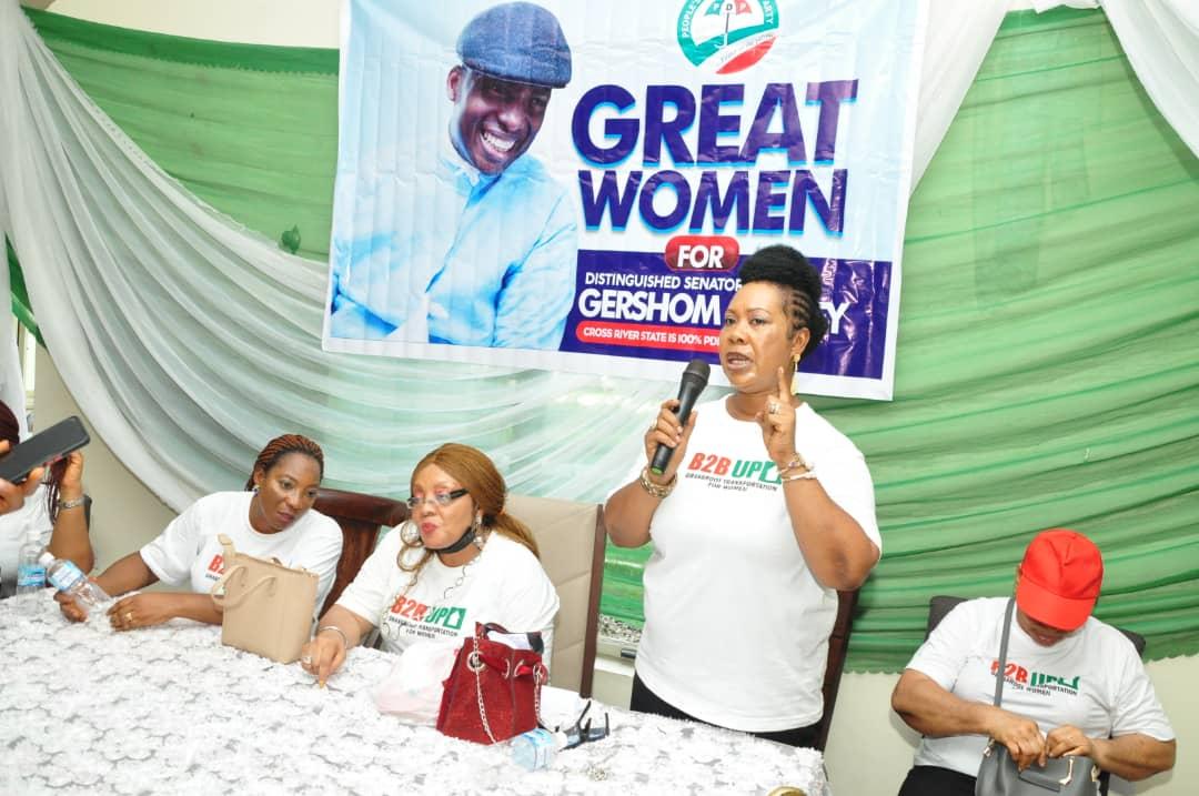 SEN. GERSHOM BASSEY GRASSROOT TRANSPORTATION SCHEME: WOMEN SUPPORT GROUPS HAILS HIS LATEST LARGESSE FOR WOMEN OF BAKASSI TO BIASE.