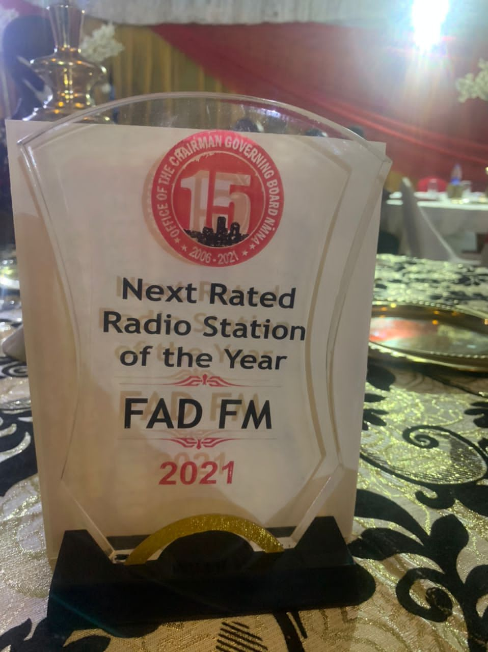 NMN AWARDS: FAD FM EMERGED AS THE NEXT RATED RADIO STATION IN NIGERIA.