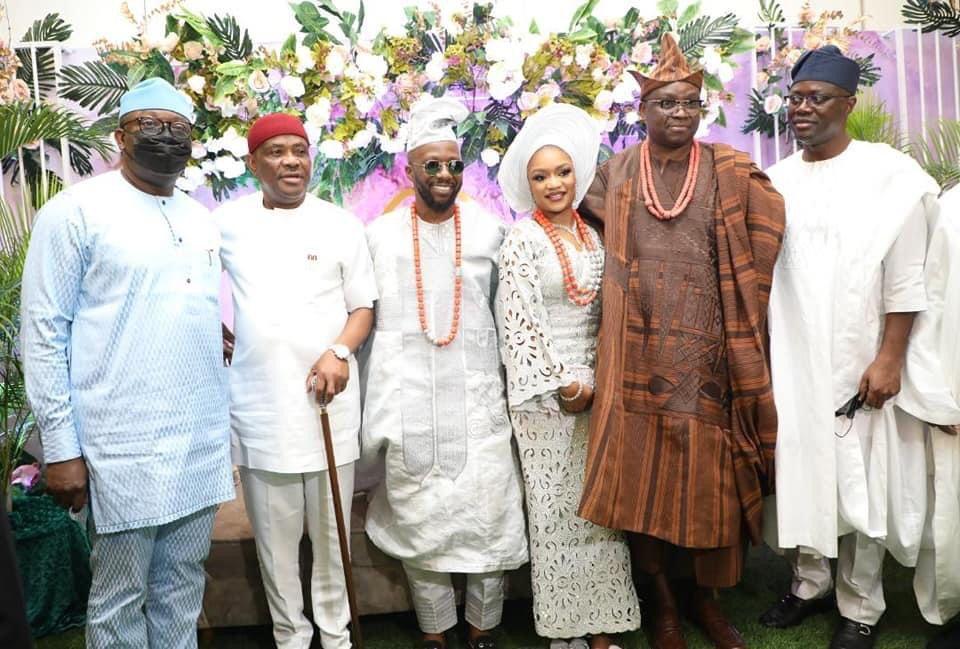 GOV. WIKE, FAYEMI, MAKINDE ATTEND FAYOSE'S SON WEDDING.